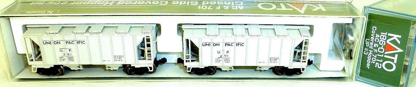 KATO 186-0112 AC&F 70t 2 Car UPClosed Side Covered Hopper OVP N 1 160 HS5 å