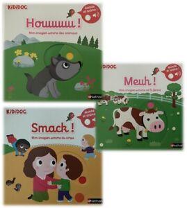 Details Sur 3 Livres Kididoc Nathan Mon Imagier Sonore Smack Meuh Et Houuuuu