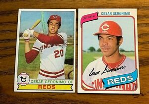 Cesar-Geronimo-Topps-1979-220-and-1980-475-Reds