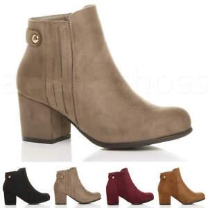WOMENS-LADIES-MID-BLOCK-HEEL-ZIP-SMART-RIDING-GUSSET-CHELSEA-ANKLE-BOOTS-SIZE
