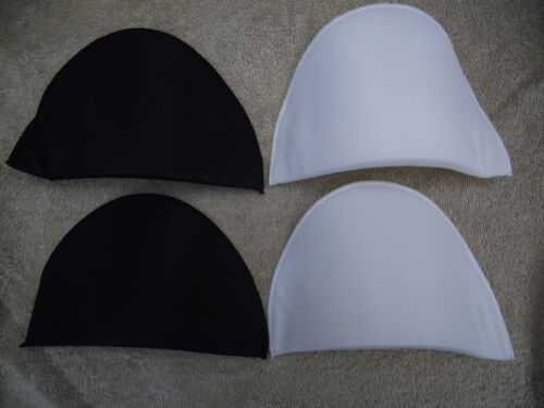 Small//Medium//Large Black or White One Pair Sewing Shoulder Pads