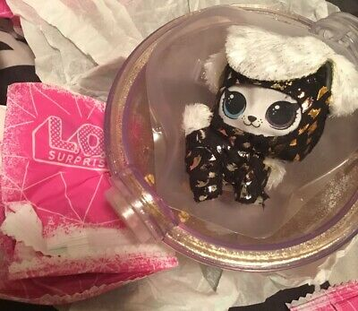 MGA! RARE LOL WINTER DISCO FLUFFY DOGGIE STARDUST HOLIDAY EDITION GOLDEN New