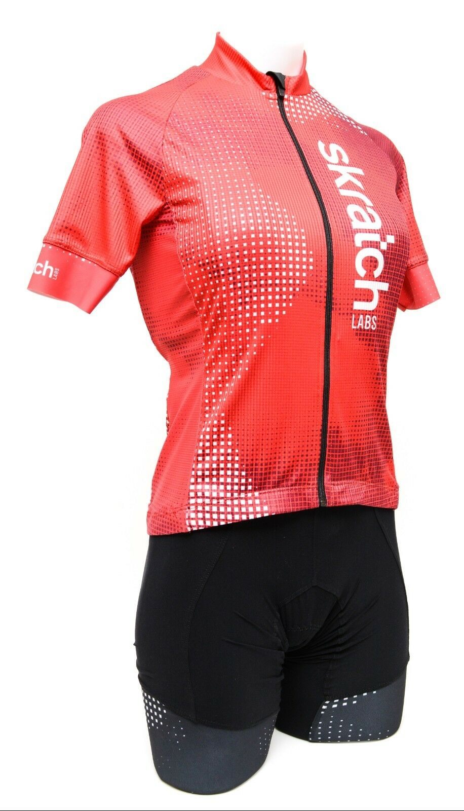 Donkey Label skratch LABS Short Sleeve Cycling Kit Women MEDIUM Red Road Bike