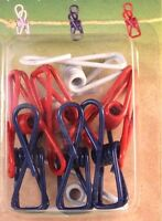 Coghlans Clothes Clips 8 Colorful Plastic Coated Wire Inside Or Outside 8041