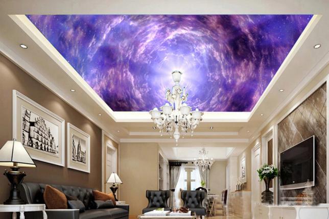 3D lila Cloud 5 Ceiling WallPaper Murals Wall Print Decal Deco AJ WALLPAPER UK