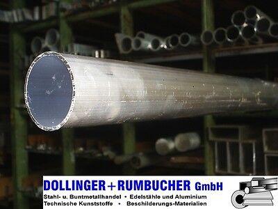 L/änge 1300mm 130cm auf Zuschnitt Aluminium Rundrohr AlMgSi05 /Ø 40x1,5mm