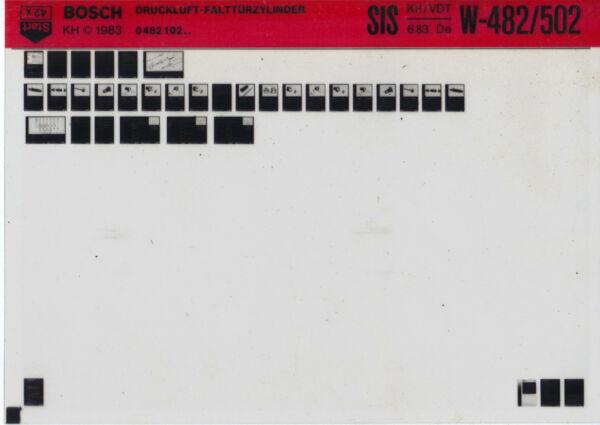 2019 Moda Bosch Informazione Tecnica _ Sis _ Aria Compressa-pieghevole A Cilindro _' 83 _ Microfich _ Fich-sis_druckluft-falttürzylinder_'83_microfich_fich