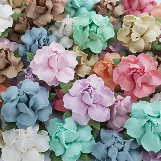 25 Mulberry Paper Flowers Wedding Centerpiece Scrapbook Card Home