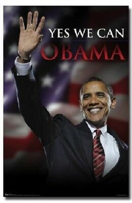 President Barack Obama Yes We Can Poster Political Collectible 22x34 Free Ship Ebay