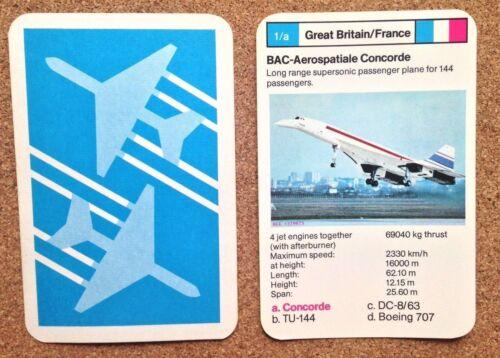 FB3 Top Trumps Single Cards Planes Passenger Aeroplanes Various