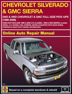 2006 gmc sierra 1500 haynes online repair manual select access ebay rh ebay com 2006 GMC Sierra Maintenance Schedule 2006 GMC Sierra Maintenance Schedule