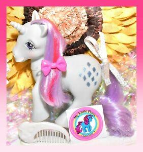 ❤️My Little Pony MLP G1 Vtg 1984 Unicorn SPARKLER Glittery Diamonds Moon COMB❤️