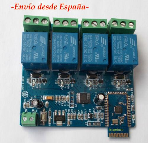 control por APP movil modulo control de 4 reles por Bluetooth Telemando