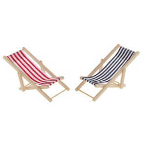 Fantastic Details About Magideal Striped Deck Beach Chair For 1 12 Dollhouse Fairy Garden Blue Red Caraccident5 Cool Chair Designs And Ideas Caraccident5Info