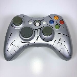 Customised Xbox 360 Wireless Controller Genuine Controller with New Silver Shell