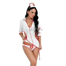Sexy Women's Nurse Doctor Uniform Costume Lingerie Halloween Cosplay Fancy Dress