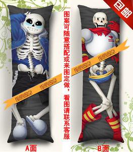 Image Is Loading Anime Dakimakura Body Pillow Case Undertale Sans Papyrus