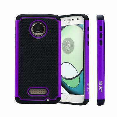 32nd Dual-Layer Shockproof Case Cover Motorola Moto Z Play + Screen Protector