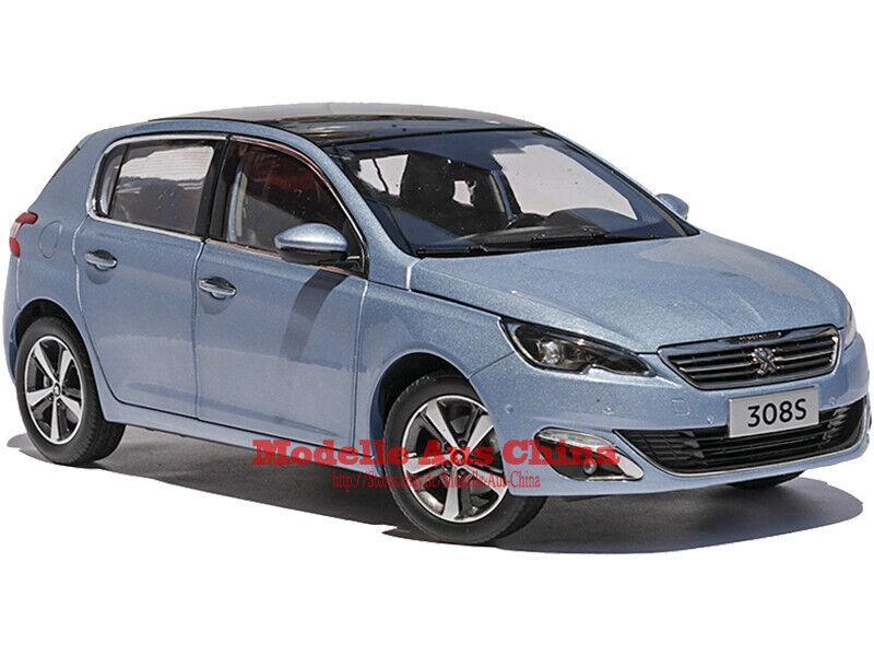 1 18 Dongfeng Peugeot 2015 308 S Polarlicht Blau (Aurora Blau) Händler Auflage