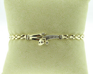 Estate-Genuine-Diamonds-Solid-14k-Two-Tone-Gold-7-25-034-Bracelet