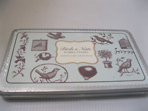 Cavallini Rubber Stamp Set Birds and Nests 11 Stamps + Ink Pad New Sealed