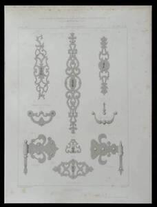 Inventif Serrurerie Ancienne - 1869 - Gravure Architecture - Serrure Jouir D'Une Haute RéPutation Sur Le Marché International
