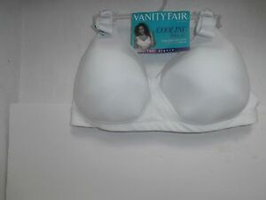 Vanity Fair 71355 Cooling Touch Wirefree  White Size 40 D New!!!