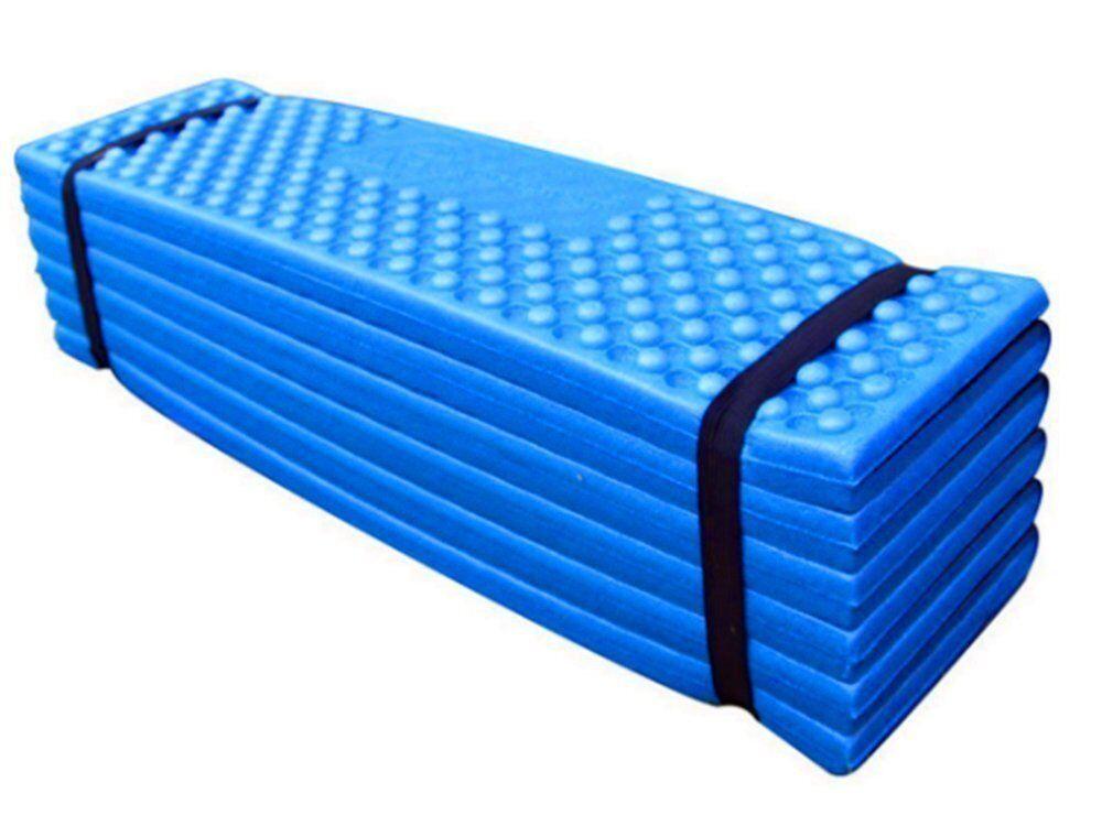Portable Foldable Mat Yoga Mat Seat Cushion, Waterproof Soft Moisture Pad (bluee)