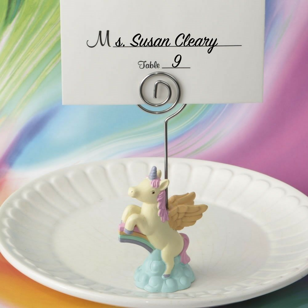 50 Fairytale Unicorn Place Card Photo Holder Baby Shower Birthday Party Favors