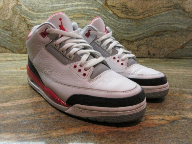 newest collection 087e8 3c98c 2006 Nike Air Jordan Retro 3 III OG SZ 9 White Fire Red Cement Grey 136064