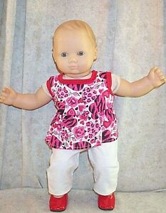 "Doll Clothes Baby Made 2 Fit American Girl 15/"" inch Bitty Sleeper Rainbows"
