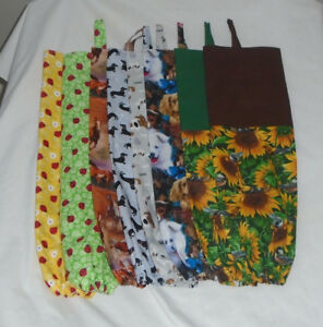 Details About Homemade Fabric Plastic Grocery Bag Holder Animal Design