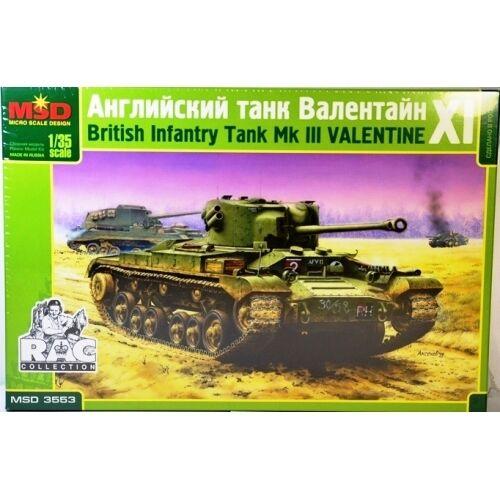 Msd 3553 British Infantry Tank Mk Iii Valentine Xi Scale Model Kit 1
