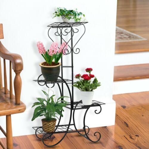Blumentreppe Metall Blumenregal Blumenständer Blumenbank für Wohnzimmer Garten