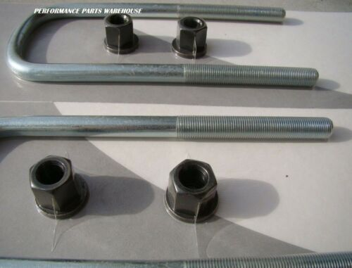 """U-BOLTS For Front LEAF SPRINGS 99.5-04 F250 F350 EXCURSION 4-WHEEL DRIVE 9/"""" Long"""