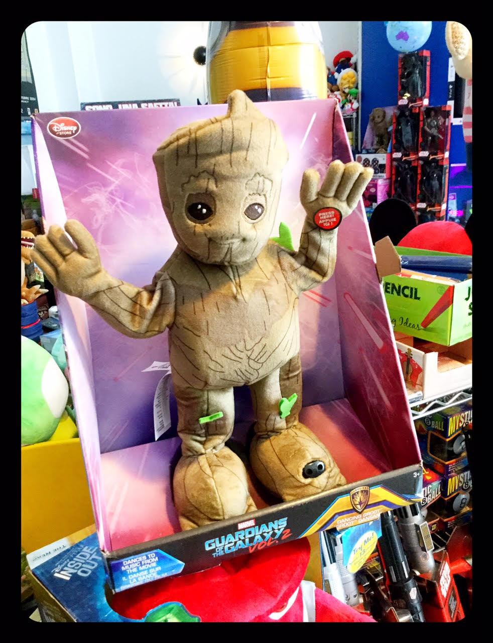 Groot danzante peluche 3D, Guardiani della Galassia Vol. 2 H 33 x L 26 x P 10cm