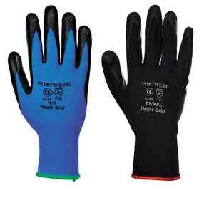 Portwest A301 Nitrile Safety Cuff Gloves Navy