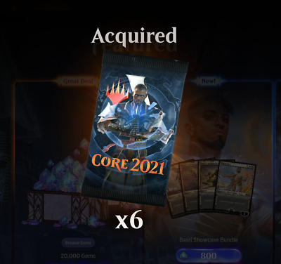 MTG Core 2021 Prerelease Arena Code Email Delivery 6 Boosters
