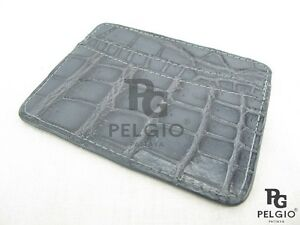 Pelgio Genuine Crocodile Alligator Skin Leather Slim