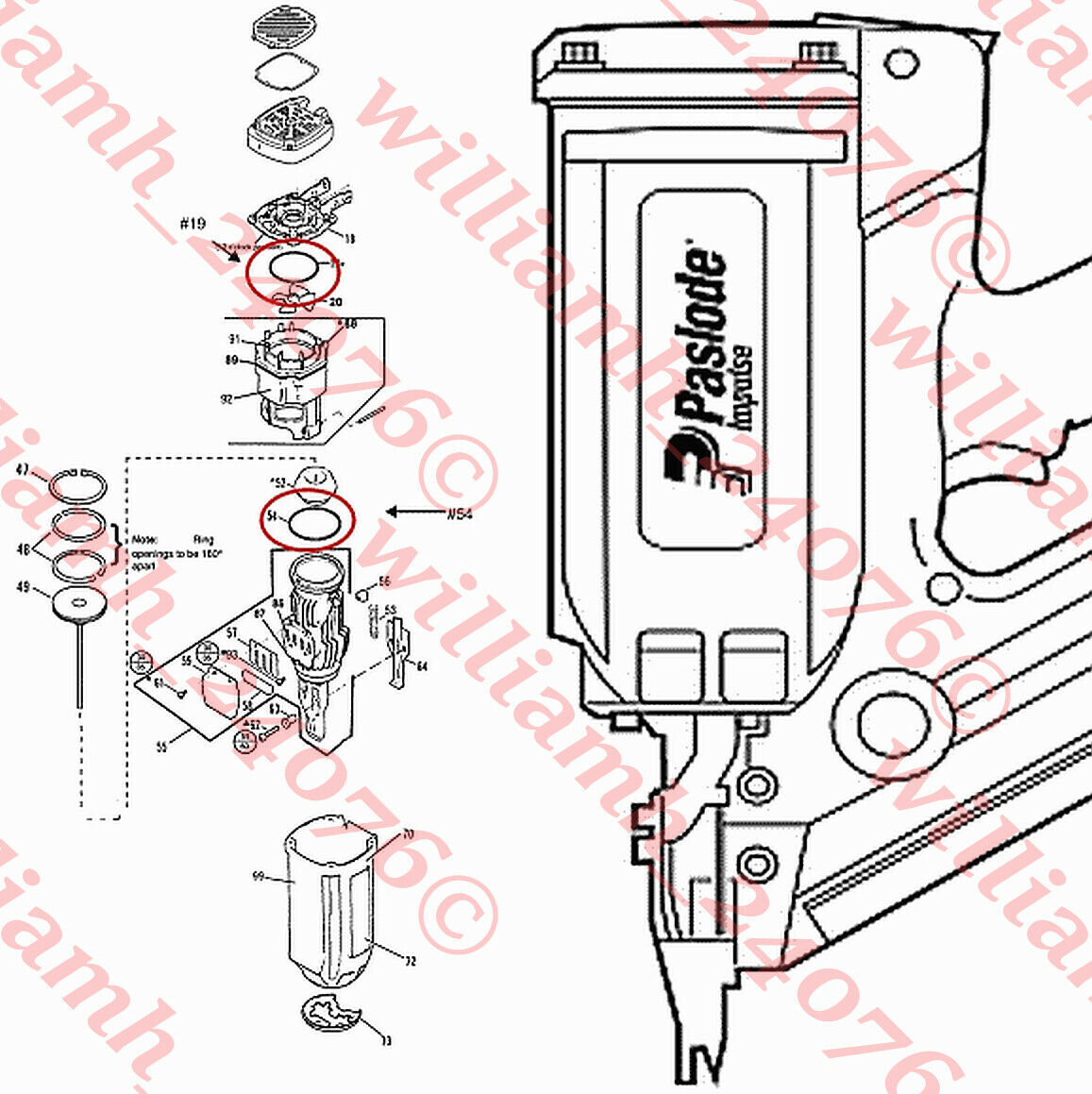 900420 williamh_24076 Paslode Cordless 900420 O-ring Kit Parts