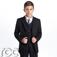 Boys Black Suit, Page Boy Suits, Prom Suit, Boys Wedding Suit, Boys Funeral Suit