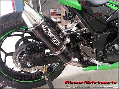 2013 Kawasaki Ninja 300 R Musarri Slip On Racing Exhaust Carbon Fiber EX300