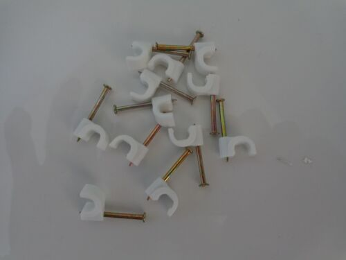 5mm 5.0 4mm 4.0mm Round WHITE Tower Plastic Cable Clip