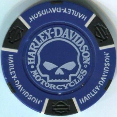 2 pc 2 colors HARLEY DAVIDSON  WILLIE G Skull poker chip samples set 222