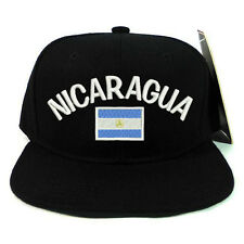 National Nicaragua Flag Snapback Baseball Cap Hat Adjustable Snap Back closure