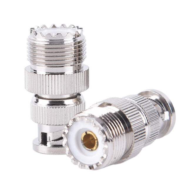 1x F TV Male plug to UHF SO239 SO-239 Female RF coaxial Adapter RF Connector USA