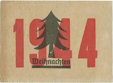 """Original extremely rare WW2 Soviet leaflet to SS soldiers:  """"1944 Weihnachten"""""""