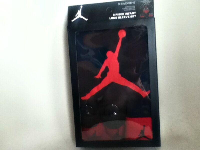Authentic Nike Jordan 3 Piece Baby Infant Newborn Gift Set Ibsp51173 Black