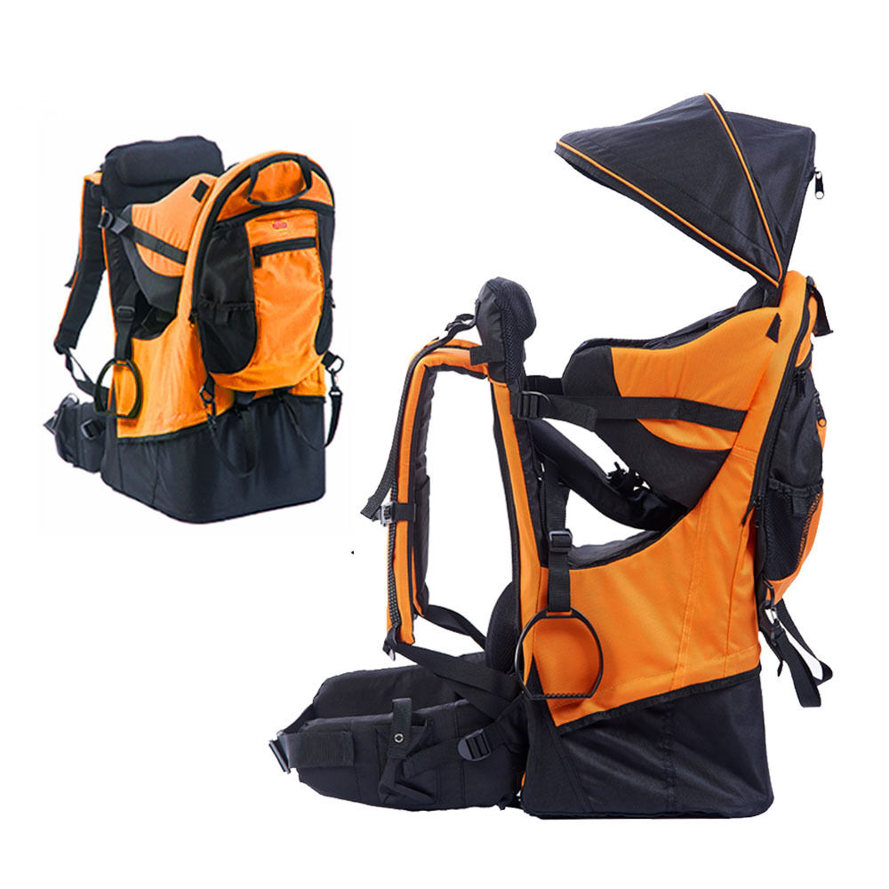 Baby Toddler Hiking Backpack Carrier W Stand Child Kid