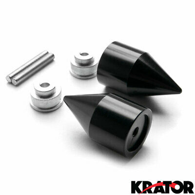 Krator Black Bar EndsRR Logo Hand Grip Handlebar Caps For Honda CBR 1000RR 2004-2013